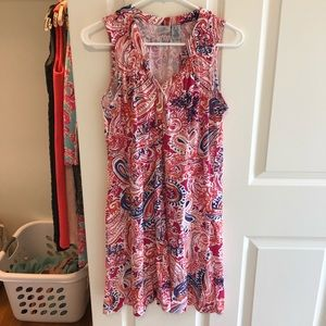 Caribbean Joe pink paisley dress, size M, like new